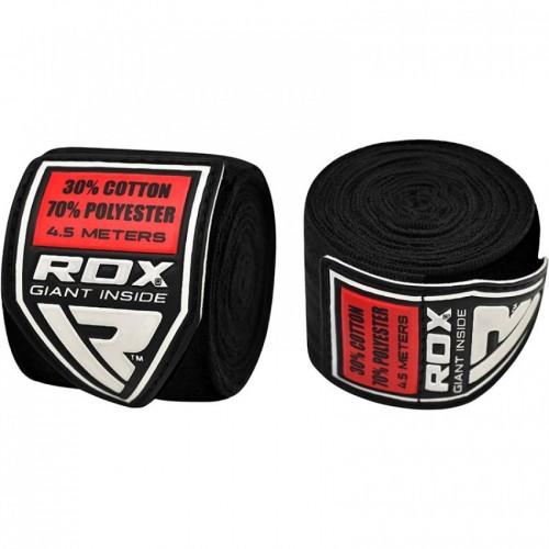 Бинты боксерские RDX Fibra Black 4.5m Комбинированный