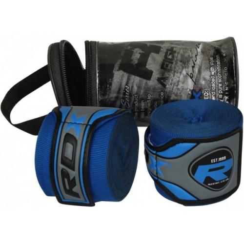 Бинты боксерские RDX Fibra Blue 4.5m Синий