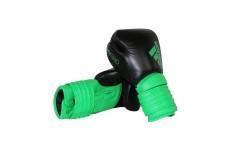 Боксерские перчатки Adidas Hybrid 300 Черно-зеленые